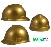 MSA Decorative V-Gard Cap Ratchet Suspension Metallic Gold