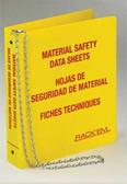 MSDS Binder, 3 inch, 3 Language - English, Spanish & French Canadian.