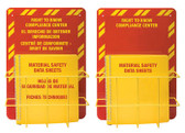 MSDS Right-To-Know Center, 3 language- Includes MSDS sign, 1.5 inch binder, and wire rack