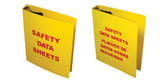 """Right to Know Binder for MSDS Sheets 1.5"""" Diameter Rings English"""