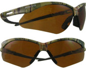 Jackson Nemesis CAMO Frame Safety Glasses with Copper Lens