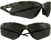 Jackson Nemesis CAMO Frame Safety Glasses with Smoke Anti-Fog Lens