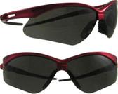 Jackson Nemesis INFERNO Safety Glasses Red Frame, Smoke Lens
