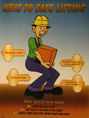 Keys To Safe Lifting Safety Poster - 18X24