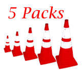 Pack and Pop 28 inch Incident Pop Up Cone with Light (5 each with Portable Bag)