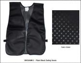 Safety Vest Plain Soft Mesh - Black