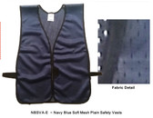 Safety Vest Plain Soft Mesh - Royal Blue