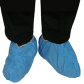 Polyethylene Shoe Covers BLUE, Anti-Static, Impervious, Non-Linting (200 Pair)
