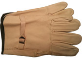 Premium Cowhide Driver Glove With LEATHER Pull Strap (priced and sold per doz)