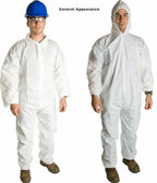 Promax SMS Coveralls w/ Hood, Boots, & Elastic Wrists (25 per case)