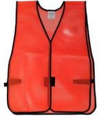 PVC Coated Assorted Colors Plain Vest – Red
