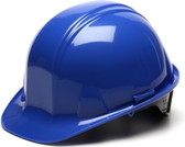 Pyramex #HP14160 4 Point Cap Style Safety Helmets with RATCHET Liners - Blue - Oblique View