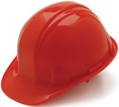 Pyramex #HP14120 4 Point Cap Style Safety Helmets with RATCHET Liners - Red - Oblique View