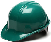Pyramex #HP14135 4 Point Cap Style Safety Helmets with RATCHET Liners - Green  - Oblique View