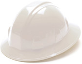 Pyramex #HP24110 4 Point Full Brim Style with RATCHET Liners - White  - Oblique View