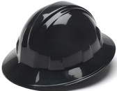 Pyramex #HP24111 4 Point Full Brim Style with RATCHET Liners - Black - Oblique View