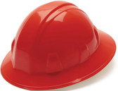 Pyramex #HP24120 4 Point Full Brim Style with RATCHET Liners - Red - Oblique View