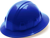 Pyramex #HP24160 4 Point Full Brim Style with RATCHET Liners - Blue - Oblique View