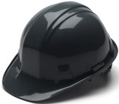 Pyramex #HP14111 4 Point Cap Style Safety Helmets with RATCHET Liners - Black - Oblique View