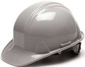 Pyramex #HP14112 4 Point Cap Style Safety Helmets with RATCHET Liners - Gray  - Oblique View