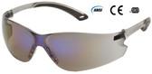 Pyramex ITEK Safety Glasses Blue Mirror Lens
