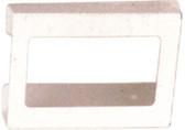 4-Box Horizontal Plastic Box Glove Dispenser WHITE HEAVY-DUTY PLASTIC
