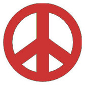 Reflective Safety Helmet Decals with Custom Design - Peace Sign