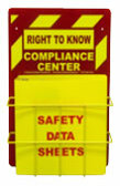 """Right-To-Know Center With Sign, Wire Rack and MSDS Binder (1.5"""" Diameter Rings) - English"""