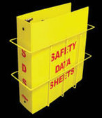 """Right-To-Know Center With Sign, Wire Rack & MSDS Binder (3"""" Diameter Rings) - English"""