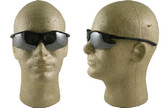 Pyramex Fortress safety glasses Black Frame with Silver Mirror Lens