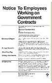 Service Contract Act / Walsh-Healy Poster