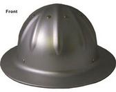 Aluminum Full Brim Hard Hat w/Ratchet Suspension