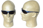 Smith & Wesson Equalizer Safety Glasses with Blue Frame, Blue Mirror Lens