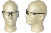 Smith & Wesson Equalizer Safety Glasses with Gun Metal Frame, Clear Anti-Fog Lens