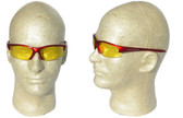 Smith & Wesson Equalizer Safety Glasses with RedFrame, Amber Lens