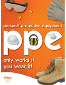 PPE Safety Poster (18 by 24 inch)