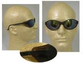 Uvex Bandit Safety Glasses, Black Frame - Mirror Lens