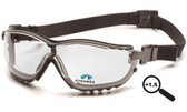 Pyramex V2G Goggles Fog Free Clear Lens 1.5 Magnification Reader