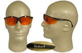 Pyramex Venture II Safety Glasses, Black Frame - Orange Lens
