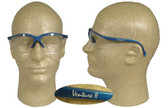 Pyramex Venture II Safety Glasses, Blue Frame - Clear