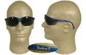 Pyramex Venture II Safety Glasses, Blue Frame - Smoke Lens