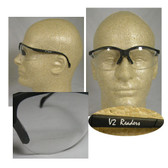 Pyramex Venture II Readers Safety Glasses - Clear Lens w/1.0