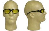 Edge Wolverine (Dakura) Safety Glasses Black Frame with Yellow Lens
