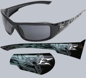Edge Brazeau Safety Glasses Gargoyle Frame, Smoke Lens