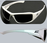 Edge Brazeau Safety Glasses White Frame, Smoke Lens
