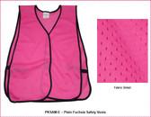 Safety Vest Plain Soft Mesh - Fuchsia