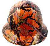 Hydrographic  FULL BRIM Hard Hat-Ratchet Suspension - American Camo Orange