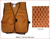 Safety Vest Plain Soft Mesh - Gold