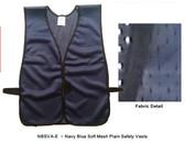 Safety Vest Plain Soft Mesh - Navy Blue
