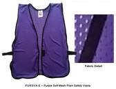 Safety Vest Plain Soft Mesh - Purple